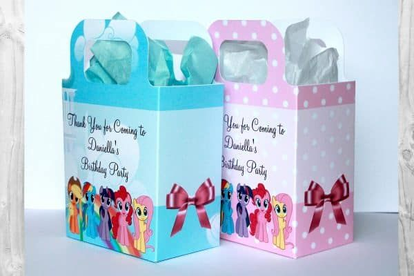 Personalised My Little Pony party bags