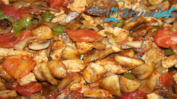 Mantarlı Tavuk Sote Tarifi