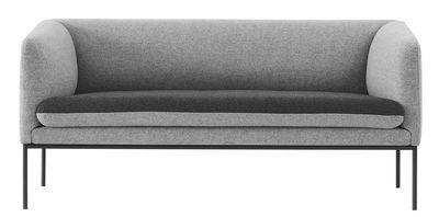 Scopri Divano destro Turn -/ L 160 cm - 2 posti, Grigio chiaro / Grigio scuro di…
