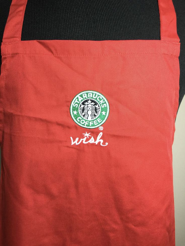 "STARBUCKS APRON CHRISTMAS HOLIDAY RED ""WISH"" VINTAGE OLD SIREN! FREE SHIPPING #Starbucks"