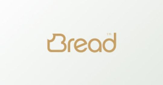 Bread Logo - The B is turned into a slice of bread and font is a brown colour to enhance the idea. Logo Design