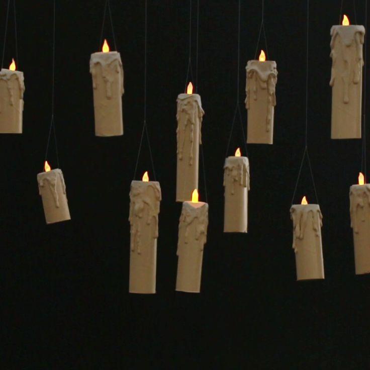 super Machen Sie diese schwimmenden Kerzen für Sie Halloween-Party
