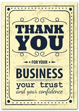 Thank you cards with slits for business card - business greeting cards