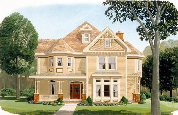 Country   Farmhouse  Victorian   House Plan 95560 - this is way too much house for me but I do love it!