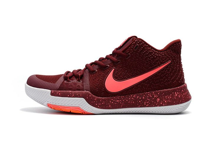 Kyrie Irving Shoes 3 2017 Hot Punch Warning Burgundy