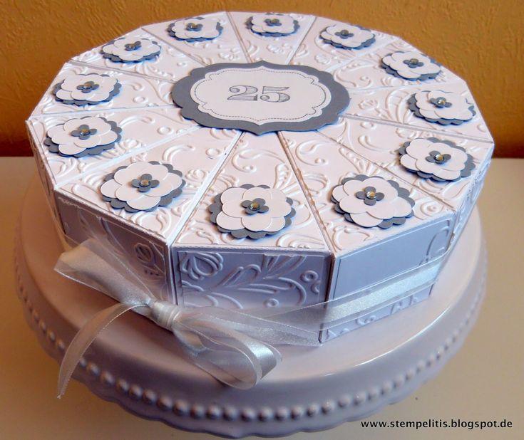 Stempelitis silberhochzeit torte goldene hochzeit - Goldene hochzeit geschenk selber basteln ...