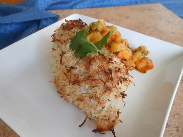 Coconut Crusted Chicken With Mango Salsa Recipes — Dishmaps
