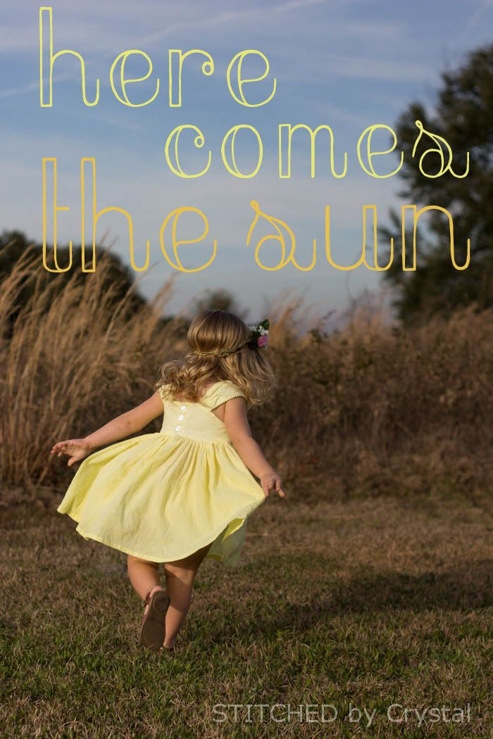 STITCHED by Crystal: Sew in Tune - Here Comes the Sun