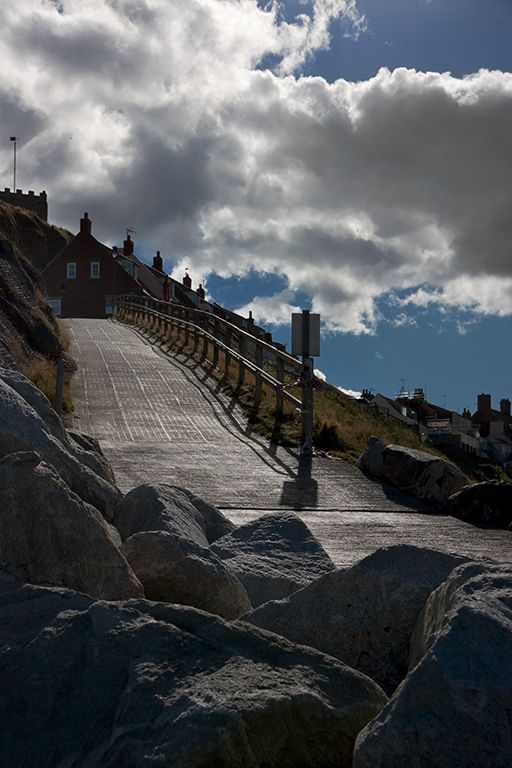 The path down to Spa ladder - Whitby, North Yorkshire, England