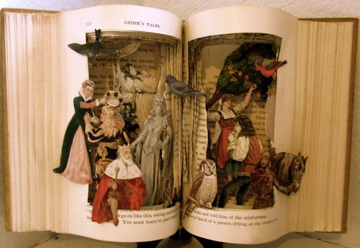 Altered Books by Susan HoerthBook Art, Book Altered, Book Sculpture, Fairy Tales, Altered Books, Book Grimm, Art Book, Altered Art, Fairies Tales