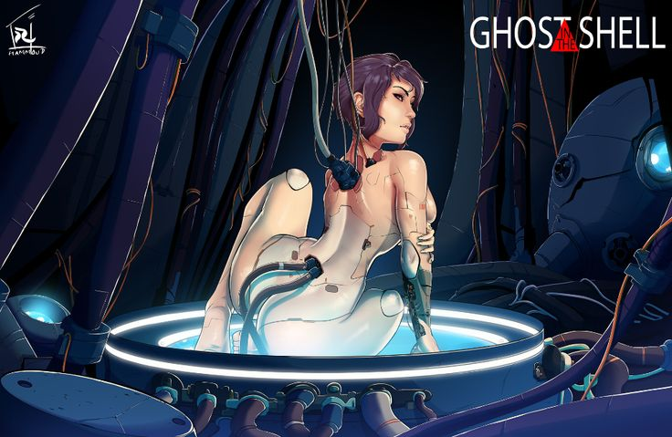 Artstation Ghost In The Shell Colored Reda Hammoud Ghost In The Shell Ghost Cyberpunk