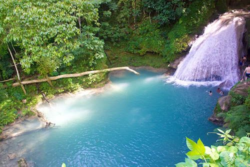 The Blue Hole in Ocho Rios, Jamaica. Off the beaten track with cliff jumping, rope swinging & cave swimming. And no cruise ship crowds!