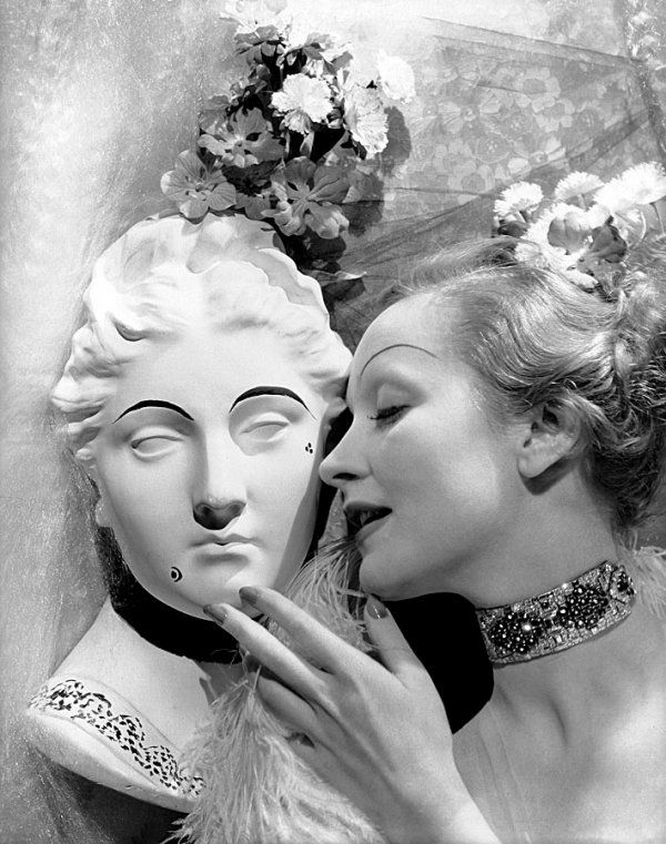 Love the bracelet used as a choker. Marlene Dietrich by Cecil Beaton