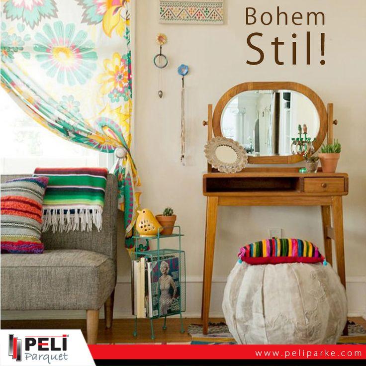 Renkleri ve farklı desenleri bir arada kullanmayı sevenlere, Bohem Stil!