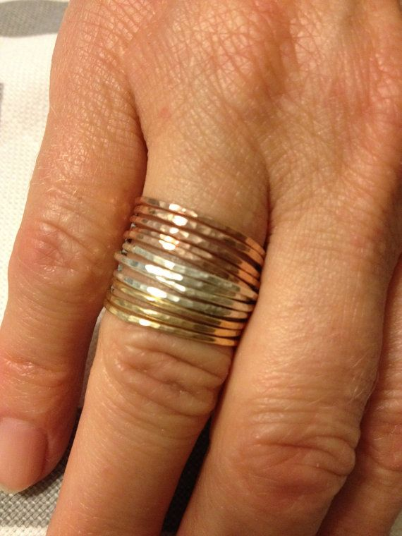 Tower of Hanoi Stackable Rings in Goldfilled by SisterLucy on Etsy