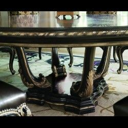 A stunning Empire style foyer center table, handmade in Europe from our exclusive empire collection.