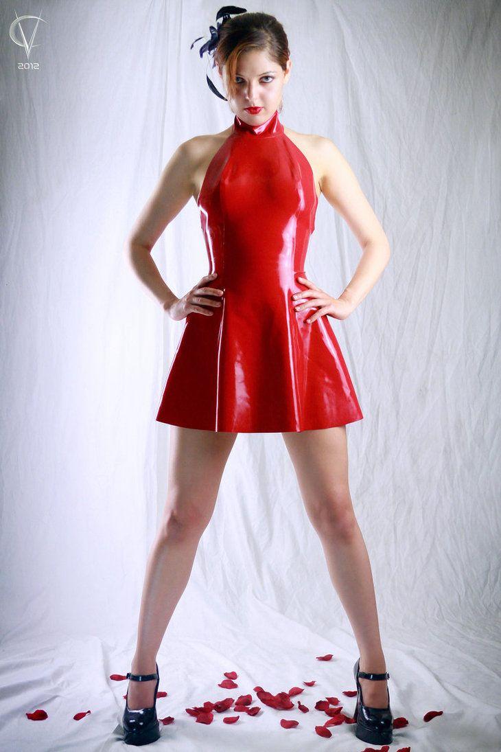 latex dress älskar kuk