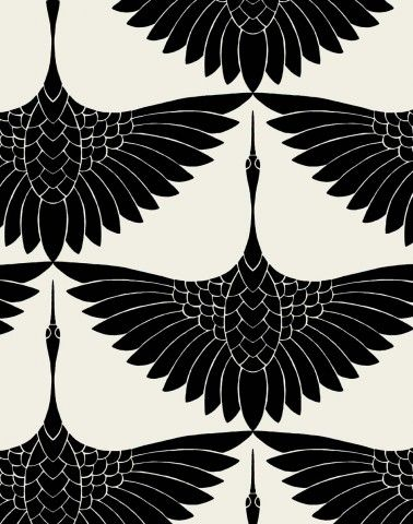 Carrie Hansen Swan Textile Design- I actually love this as a tattoo idea, just one bird between shoulder blades...