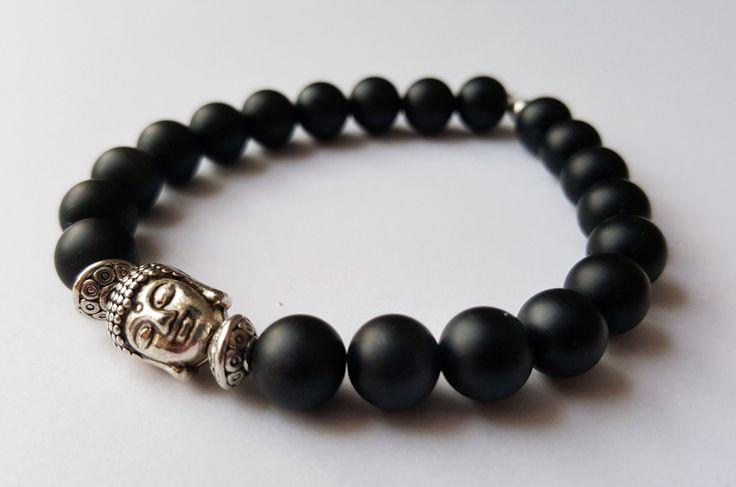 Unisex Genuine Matte Black Onyx by Wild Lotus Jewellery