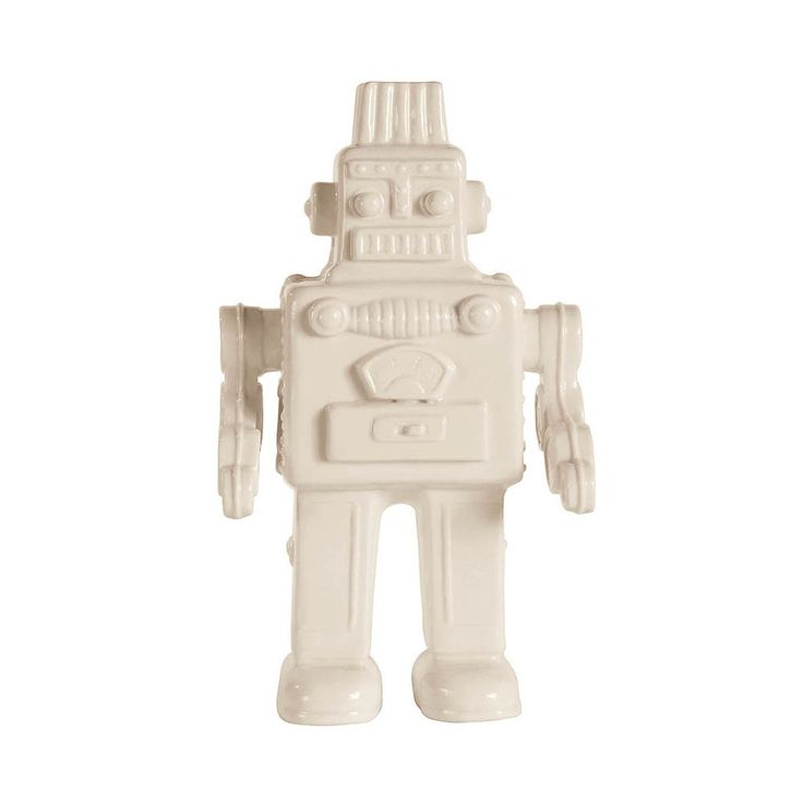 Make a statement with this My Robot ornament from Seletti. Beautifully crafted from fine white porcelain it's part of the Memorabilia collection which transforms retro children's toys into fun dec