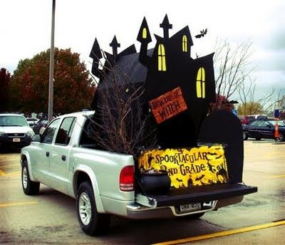 trunk or treat idea i could see us doing this to the truck holidays halloweenhalloween funhalloween decorationshalloween