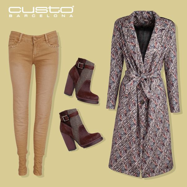 Camel, toffee, miel... ¡Los estilismos de invierno se rinden a los pies de estos colores tendencia! Consigue el look > www.custo.com  Camel, toffee, honey... Winter outfits surrender at the feet of this fashionable colours! Get the look > www.custo.com