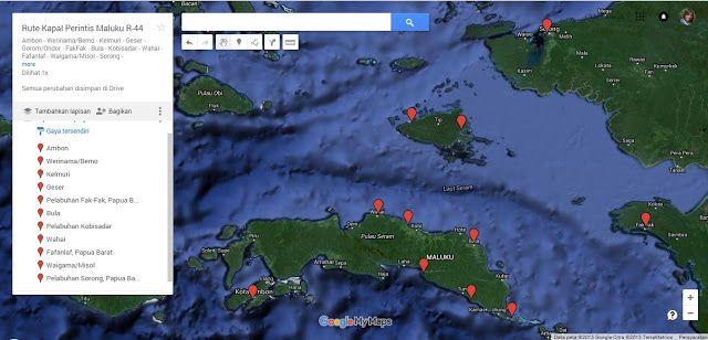 Rute Kapal Perintis Maluku Jalur R-44