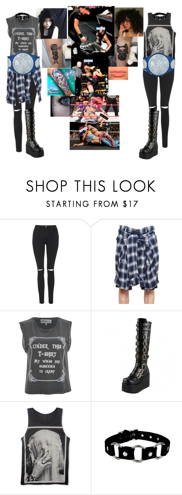 """""""💵🖕🏾The New Acolytes🖕🏾💵-Royal Rumble⚫️Vs Benjamin And Gable"""" by wokenhardies ❤ liked on Polyvore featuring Topshop, Maison Mihara Yasuhiro, Wildfox and Concord"""