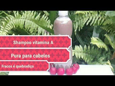 Faça shampoo artesanal com  vitamina A pura para cabelos fracos é quebra...
