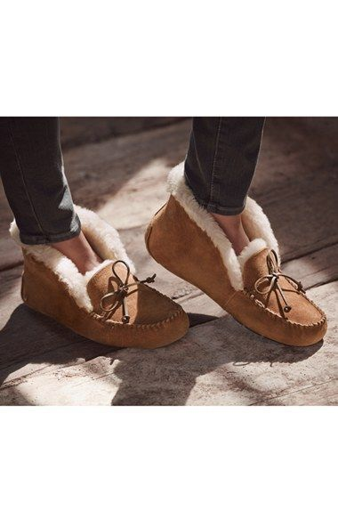 Slippers from my husb, to me | UGG® Australia 'UGGpure™ Alena' Suede Slipper (Women) | Nordstrom