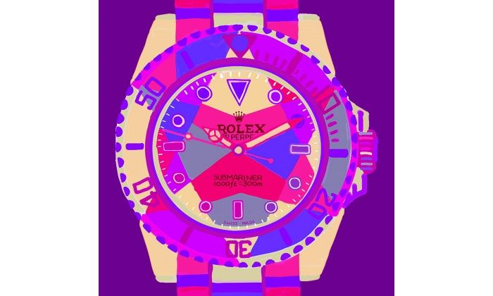 Submariner PURPLE POP Watch On Purple - Limited Edition of 20 only