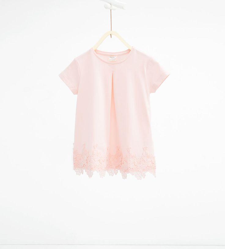 ZARA - NIÑOS - Camiseta guipur