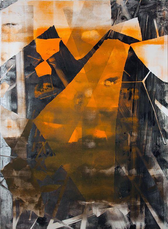 Mono Print #1, 2012. Print by Chris Trueman. Image: TWFineArt // abstract