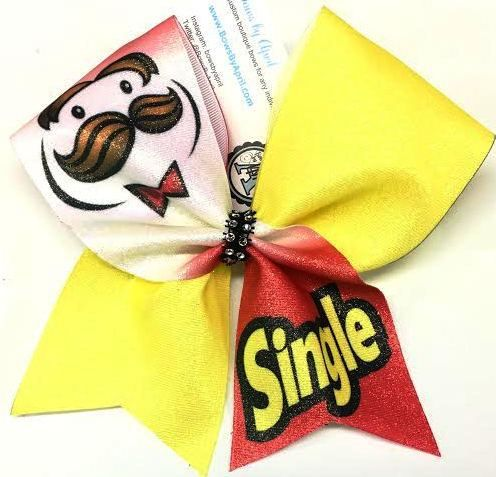 Bows by April - Single Pringles Cheer Bow, $15.00 (http://www.bowsbyapril.com/single-pringles-cheer-bow/)