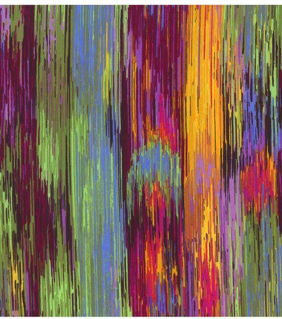 Spectrum Lines India Silk Fabric