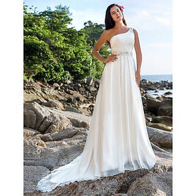 Lanting+Bride®+A-Linie+/+Prinzessin+Extraklein+/+Übergrößen+Hochzeitskleid+-+Schick+&+Modern+/+Elegant+&+Luxuriös+Kirchen+Schleppe+–+CAD+$+180.69