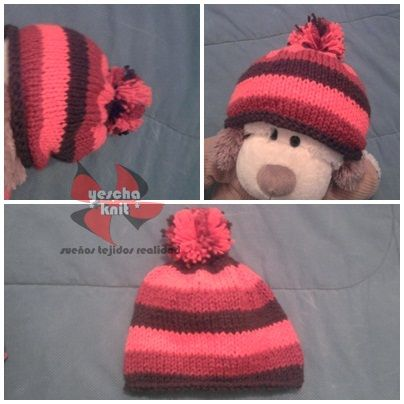 colored knitted hat