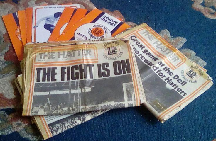 Luton Town FC programmes, 'The Hatter' newspaper, 1975-76 season.