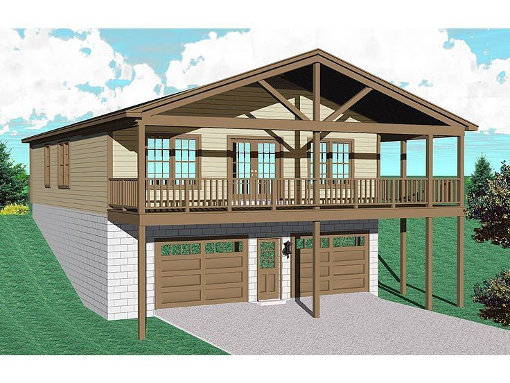 25 best images about garage apartments on pinterest for Cool house plans garage apartment