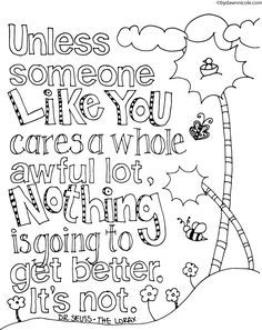 image result for dr seuss lorax shapes  quote coloring