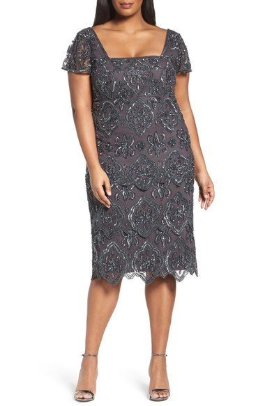 Pisarro Nights Lace Tiers Embellished Cocktail Sheath Dress (Plus Size) available at #Nordstrom