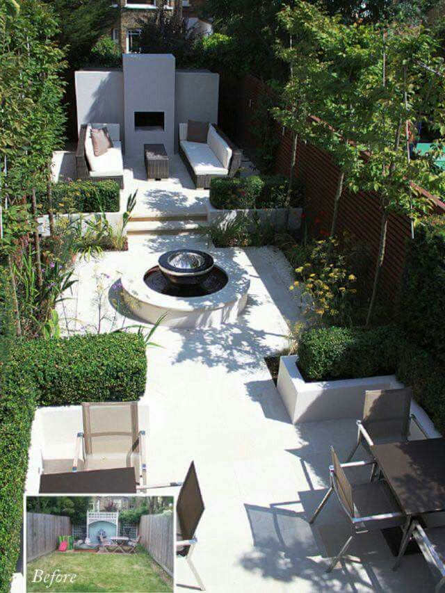 24 best Long + Narrow Garden Ideas images on Pinterest ... on Long Narrow Backyard Design Ideas id=96422