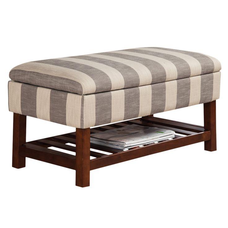 Collette upholstered storage bench upholstered storage
