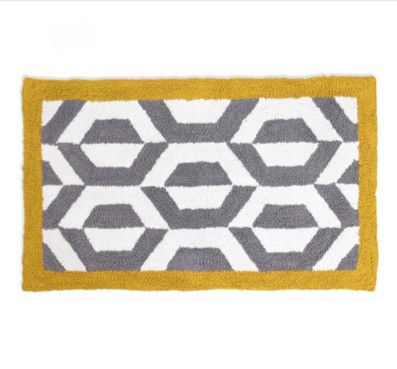 Jonathan Adler Gio Ponti Grey U0026 Yellow Bath Rug From Amara.