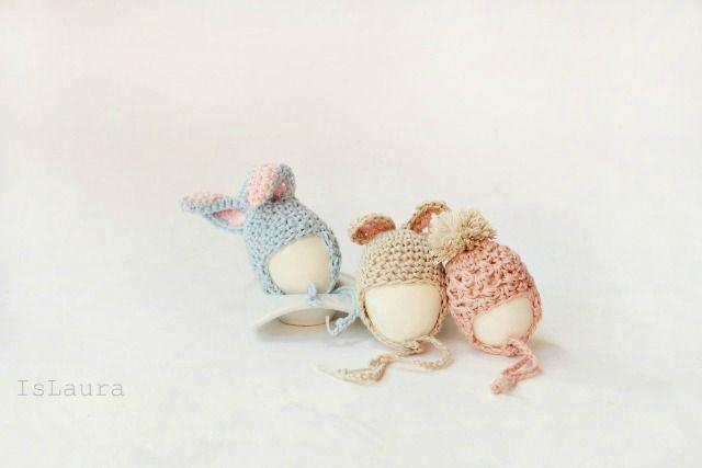 Cute Easter Egg Hats - Free Crochet Diagram - Pattern In Italian - (islaura)