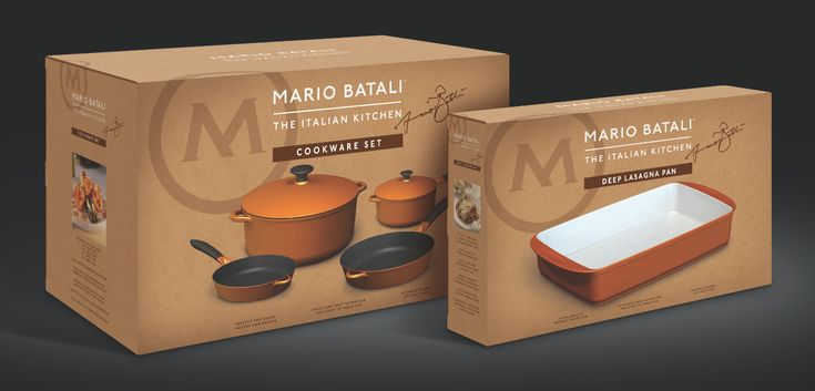 Mario Batali Italian Kitchen premium cookware package design