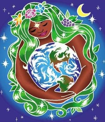 Gaia embraces us by Karuna Arts. Read the interesting article about Earth Day written from Gaia's perspective at http://heellisgoa.com/2012/04/22/earth-day-interview-with-gaia/
