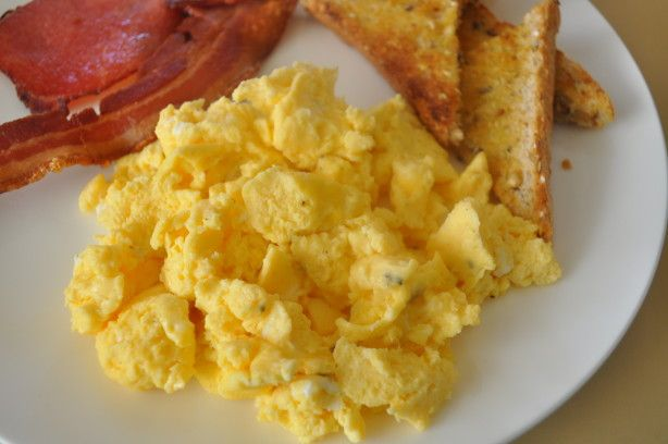 A recipe I received from a friend of mine who did a little experimenting on making scrambled eggs in the microwave.  Ended up being a really good recipe