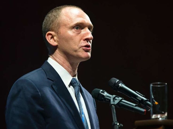 CARTER PAGE, TRUMP'S FORMER FOREIGN POLICY ADVISER  -    Carter Page, an early foreign policy adviser to Trump's campaign, traveled to Moscow in July 2016 to speak at the New Economic School.      There, he criticized US foreign policy and allegedly met with Igor Sechin, the CEO of Russia's state oil company, to discuss lifting US sanctions on Russia in exchange for a cut of the company's huge...  .   MORE...   These are the key names that keep coming up in the Trump-Russia investigation
