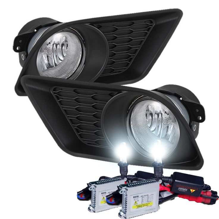 HID Xenon + 2011-2013 Dodge Charger OEM Style Fog Lights - Clear
